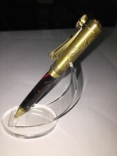 Quality Hand made motorcycle pen in Dracula resin great for gifts,graduation
