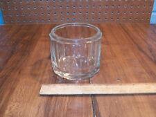 Vintage Ribbed Clear Glass Salt Jar - No Lid