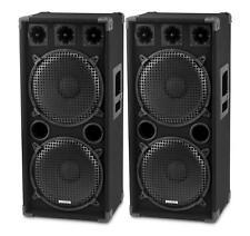 """Par 2x 12"""" (30cm) DJ PA pilares altavoces discoteca stand boxeo subwoofer 2000w"""