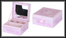 Home & Heart Girls Jewellery Box With Mirror Room Decoration Cute Gift Pink New