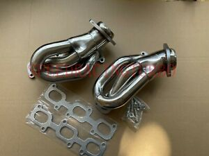FOR 11-15 FORD MUSTANG 3.7 V6 D2C SHORTY STAINLESS STEEL HEADER EXHAUST MANIFOLD