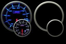 Fuel Pressure Gauge- Prosport Premium Peak Recall & warning Blue/White 52mm