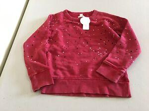 NWT Gymboree Boy Red Dots Sweatshirt Pullover Jacket 3,4,5/6,7/8,10/12