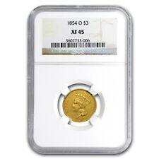 1854-O $3 Gold Princess Xf-45 Ngc