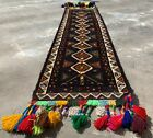 Authentic Hand Knotted Afghan Balouch Wool Area Runner 6 x 2 Ft (1192 HMN)