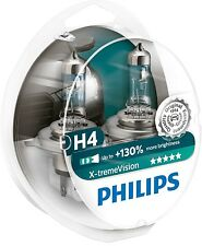 Philips +130% H4 X-treme Vision Pair of two Halogen Lamps 12342XV+S2
