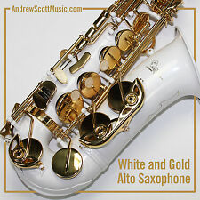 New White Alto Saxophone in Case - Masterpiece