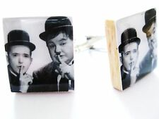 Laurel and Hardy Cufflinks ~ Vintage Movie Cufflinks handmade by DandanDesigns