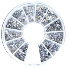 1 ROUE de 1200 stass couleur clair cristal déco d'ongles Nail Art 12 formes