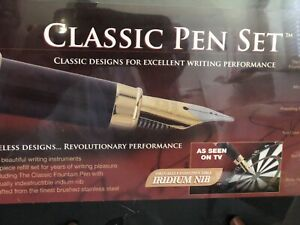 JML Classic Pen Set In Storage Case-New In Sealed Package (FC37A-2)