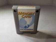 NEW GRAY PERFORMANCE 256K MEMORY CARD CONTROLLER PAK PACK for NINTENDO 64 N64 B8