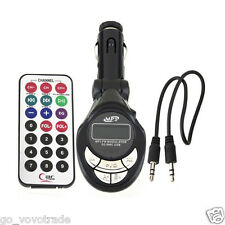 Car Stereo MP3 Player Wireless FM Transmitter Modulator USB SD CD MMC Remote XRC