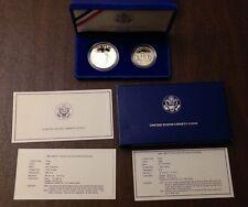 1986 S Statue Of Liberty Centennial Proof Commem Dollar & Half US Coin OGP