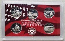 2005 S U.S. Mint State Quarters Silver Proof Set - 90% Silver