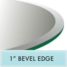 """46"""" Round Clear Tempered Glass Table Top 1/2"""" thick - Bevel edge by Spancraft"""