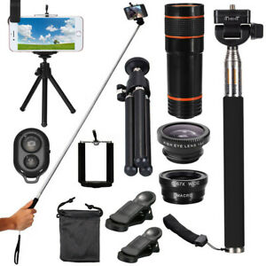 12x Optical Zoom Clip Lens Phone Camera Telescope Tripod For Universal Cell 2021