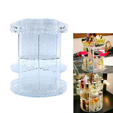 360 Degree Rotating Spin Clear Cosmetic Makeup Organizer Box Storage Case Rack