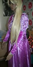 DELUXE RAPUNZEL DRESS AND WIG DISNEY MOVIE TANGLED COSTUME 14 16