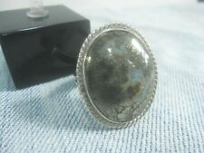 Natural Silver in Quartz Ring=Sterling Silver 925 = Gemstone = Men's size=11