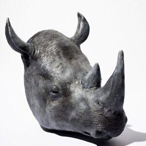 Rhino Head , Faux Taxidermy, Wall Mounted