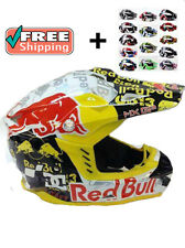 RED BULL  HELMET MOTOCROSS FREESTYLE ENDURO CROSS  SIZE M L XL XXL  NEW.