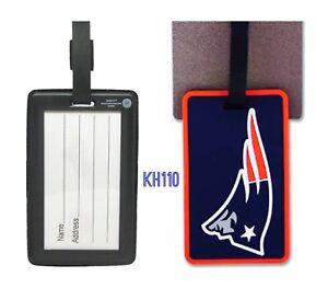 NFL New England Patriots Soft Luggage ID Bag Tags /Gym bag / Golf bag