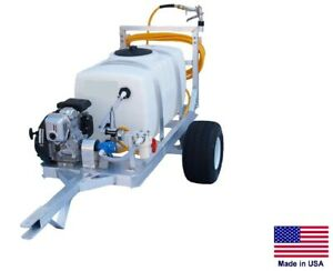 SPRAYER Commercial - 2 Wheel Trailer - 7 GPM - 150 PSI - 5 Hp - 50 Gallon Tank