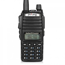 Baofeng Two-Way Radio UV-82 Wide Black Amateur Dual Programmable Power Settings