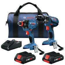 Bosch GXL18V-239B25-RT 18V 2-Tool Combo Kit w/ (2) 4 Ah Batteries Reconditioned