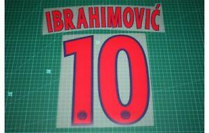 Flocage IBRAHIMOVIC PSG  patch shirt Paris Saint Germain maillot France Football