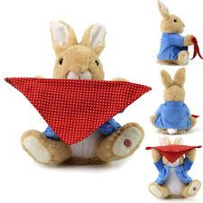 Peek-a-Boo Peter Rabbit Kids Play Soft Plush Toy Stuffed Music Doll Gifts 30CM