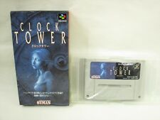 Super Famicom CLOCK TOWER No instruction bbn Nintendo Boxed sf