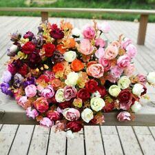 Artificial Silk Rose Flower Bouquet Home Wedding Wreath Bridal Decor