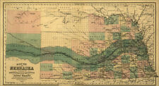 Union Pacific Railroad land map Nebraska c1880 36x20