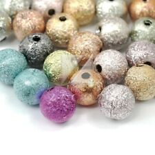 6mm Acrylic Round Stardust Spacer Beads Mixed Jewelry Making Free Shipping