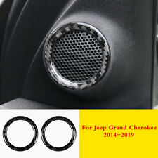 For Jeep Grand Cherokee 14-19 Real Carbon Fiber Front Window Audio Speaker Trim