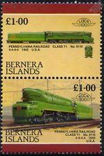 1942 pr classe T1 No.6110 4-4-4-4 Pennsylvania Railroad train timbres (bernera)