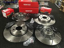 RENAULT CLIO 2.0 2011 on  BRAKE DISC CROSS DRILLED GROOVED BRAKE PADS