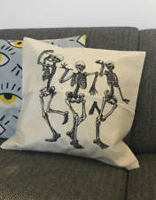 Skull Pillow Covers Halloween Home Decor Halloween Gifts Linen Sofa Throw Pillow