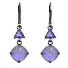 Kirks Folly Mystic Rocks Leverback Earrings   hematite / violet