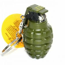Grenade Novelty Gas Lighter Camouflage Mini Keychain Keyring Xmas Mens Gift