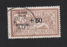 CROIX-ROUGE GUERRE Dallay N°5C Orphelins P.T.T. 50 c + 50 c Merson OBLITÉRÉ