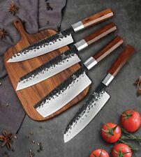 """BIGSUNNY 8.3""""Forge Hammered Kiritsuke Chef Knife Vegetable Cleaver Kitchen Knive"""
