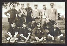 REAL PHOTO 1912 KANSAS STATE BASEBALL TEAM PLAYERS MANHATTAN POSTCARD COPY