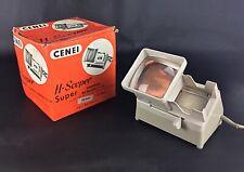 Ancienne visionneuse diapositive H Scoper- Cenei - 110V + Boites