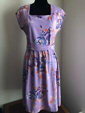Lands' End Women's 10-12 Purple Floral Dress