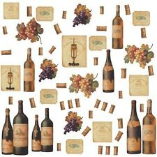 WINE TASTING Wall Decals Bottles Grapes Labels Stickers Kitchen Bar Den Decor