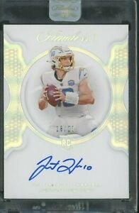 2020 Panini Flawless Justin Herbert RC Rookie Signed AUTO 18/20 Chargers