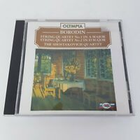 Borodin Shostakovich String Quartet No 1 A Major 2 D Major CD (1994) OLYMPIA
