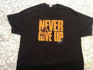 Bear Grylls Never Give Up Tour tee shirt